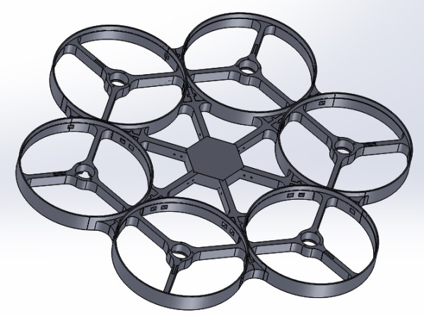 Initial hexacopter design